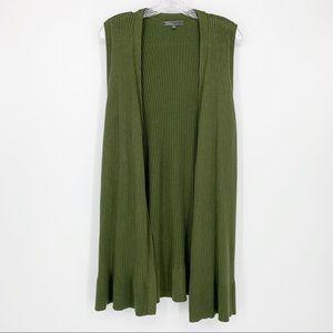 89th & Madison Green Cardigan Vest XL